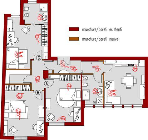 planimetria da letto progetto 85 mq architettura a domicilio 174