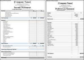 Excel Profit and Loss Statement Template