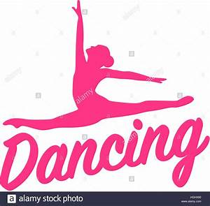 Dancing Silhouette With Word Stock Photo  130700808
