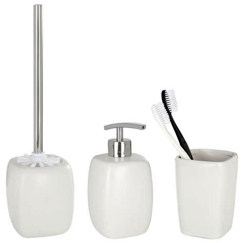Bathroom Accessories Uk by Wenko Faro Ceramic Bathroom Accessories Set White At