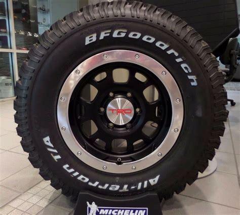 toyota tacoma trd beadlock style wheel tire assembly