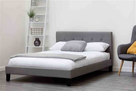 blenheim grey charcoal fabric upholstered bed frame single king size price beds