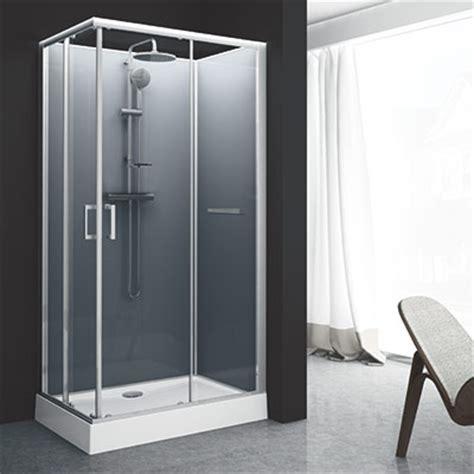 Cabine de douche carré Leda Corail 1 80x80 l Espace Aubade