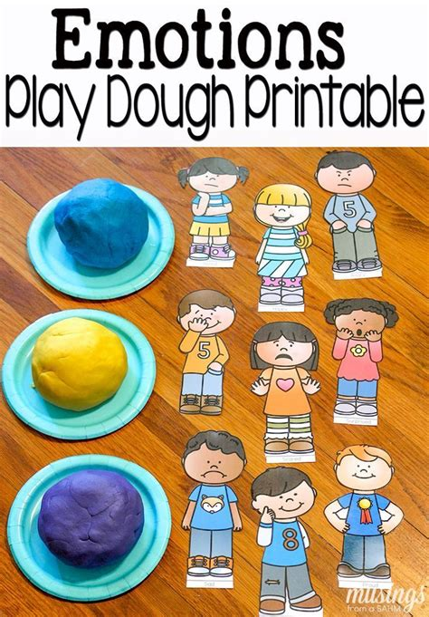 playdough with emotions free printables pretend play play sets and for