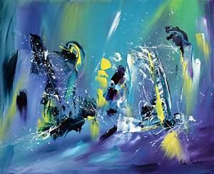Tableau Peinture Moderne : tableau abstrait contemporain moderne et flashy ~ Teatrodelosmanantiales.com Idées de Décoration