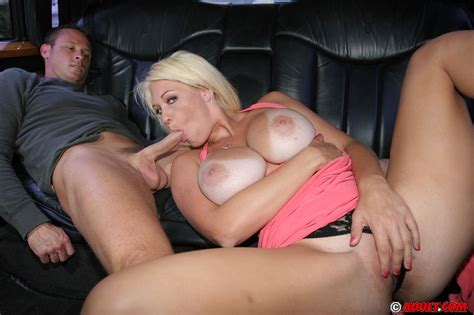 deep bosomed blonde milf gets tricked into blowjob on the