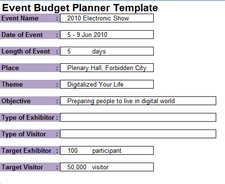 event planning template 7 event planning budget templates excel templates