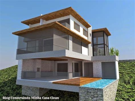 construir casa fachadas de casas em terrenos em declive como construir