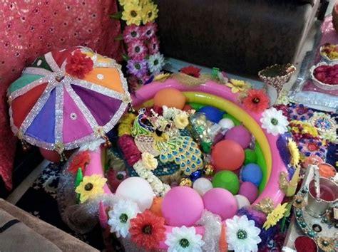 decoration ideas  krishna janmashtami kanha krishna