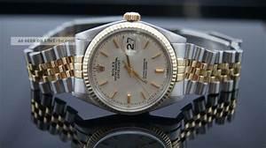 Rolex Uhr Herren Gold : rolex oyster datejust 36 mm stahl gold 1570 18k herren uhr vintage box ref 1603 ~ Frokenaadalensverden.com Haus und Dekorationen