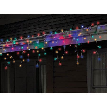 multi color icicle lights celebrations twinkle icicle lights 4 quot multi color led