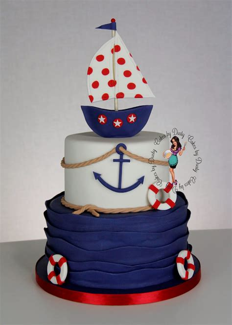 Nautical Baby Shower - cakes by dusty