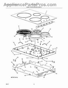 Parts For Frigidaire Ffec3025ls1  Main Top    Surface Units