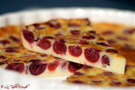 recette de cuisine m6 clafoutis aux cerises la table monde des centaines de