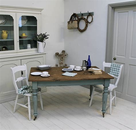 painted kitchen table ideas distressed painted pine kitchen table by distressed but