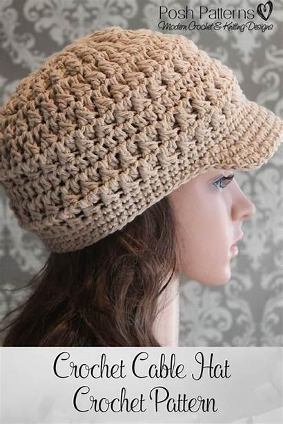 Crochet Hat Newsboy Pattern Patterns Hats Cap