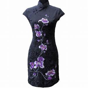 robe asiatique qi pao With robe chinoise pas cher