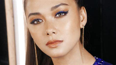 maja salvador blue eyeliner trend
