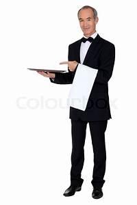 Tablett Mit Foto : kellner mit einem tablett stockfoto colourbox ~ Orissabook.com Haus und Dekorationen