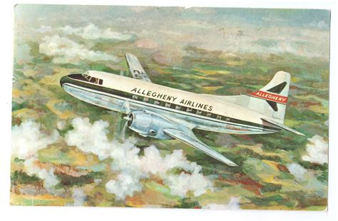 Allegheny Airlines Mid Atlantic 1957 Vintage Aircraft