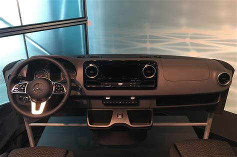 mercedes benz teases interior   sprinter