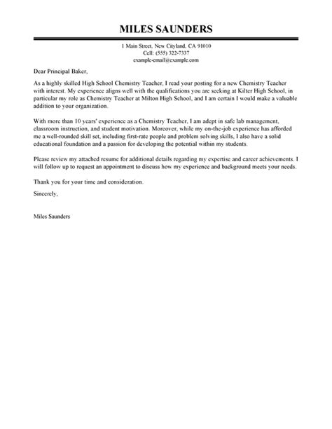 Letter Of Interest Exle Education by Best Education Cover Letter Exles Livecareer