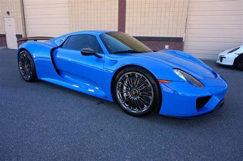 Beautiful Quot Voodoo Blue Quot Porsche 918 Spyder For Sale 95