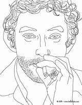 French Coloring Singer Gainsbourg Serge France Flag Coloriages Famous Hellokids Celebrities Célébrités Getdrawings sketch template