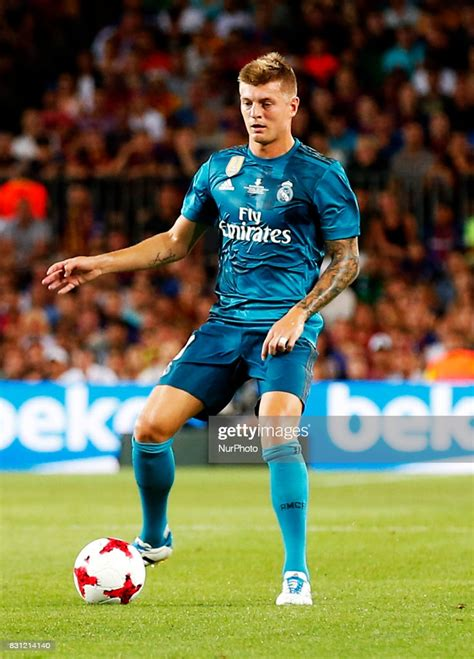 Toni Kroos during the spanish Super Cup match between F.C ...