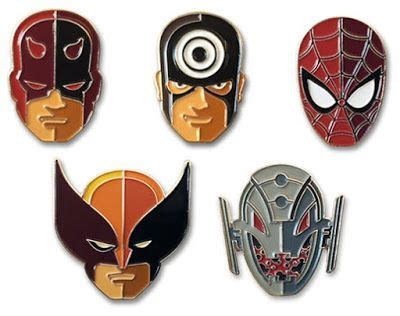Marvel Character Portrait Enamel Pins by Tom Whalen ...