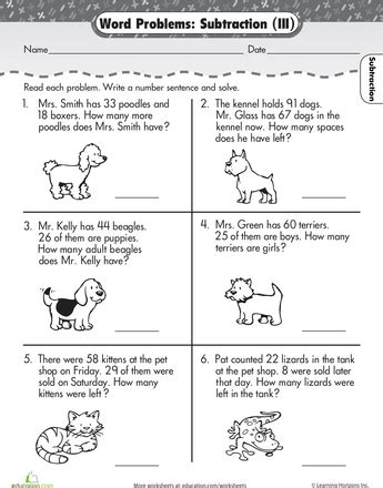 word problems subtraction math mental maths