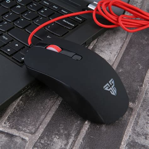 fantech g10 2400dpi led optical usb wired mouse for