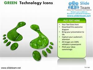 Green technology icons powerpoint presentation slides.