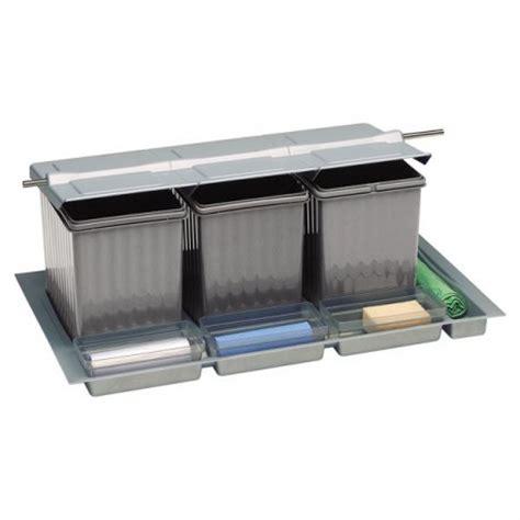 poubelle tiroir cuisine poubelle pour tiroir 4 bacs 41 litres