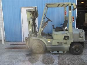Hyster H40xm Diesel Forklift 4000 Lbs W   Sideshift Pneumatic Tires 153