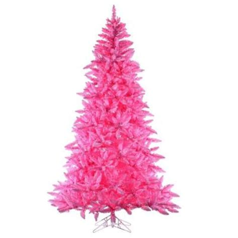 7 5 ft pre lit ashley pink artificial christmas tree with