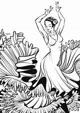 Flamenco Linework Crisvector Deviantart Colouring Vector sketch template