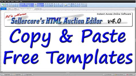 free ebay how to make money on ebay by copy pasting any free template