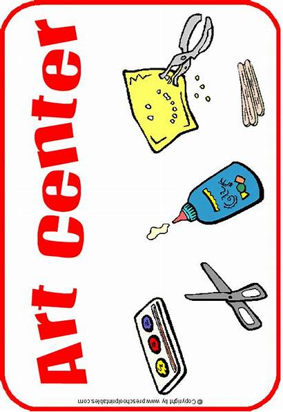 Center Signs Clipart Preschool Centers Clip Preschoolprintables