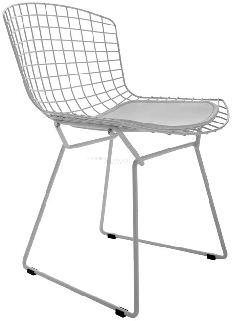 harry bertoia style wire dining side chair coloured