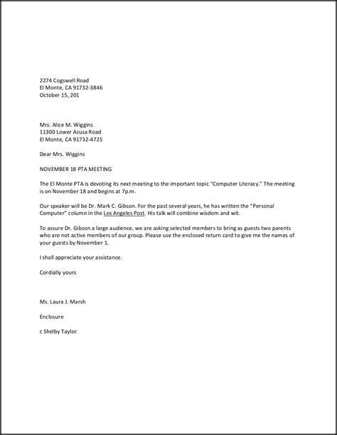 personal business letter  letters  sample