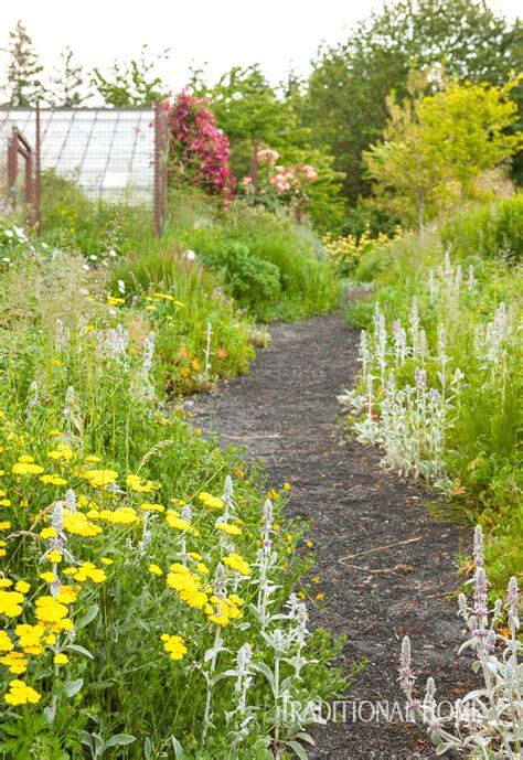 a calming garden paradise traditional home