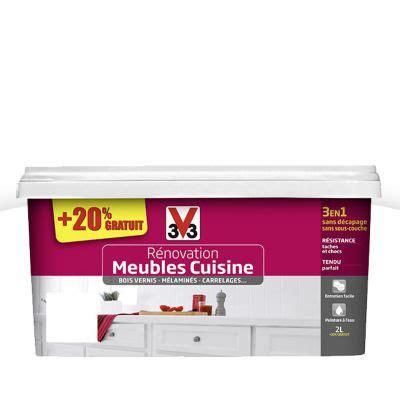 renovation meuble cuisine v33 peinture de rénovation meubles cuisine blanc brillant 2l