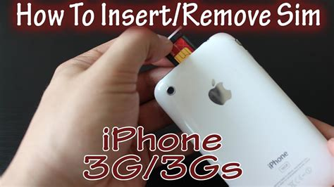 how to take sim card out of iphone 4 how to remove and insert sim card iphone 3gs and 3g how 21407