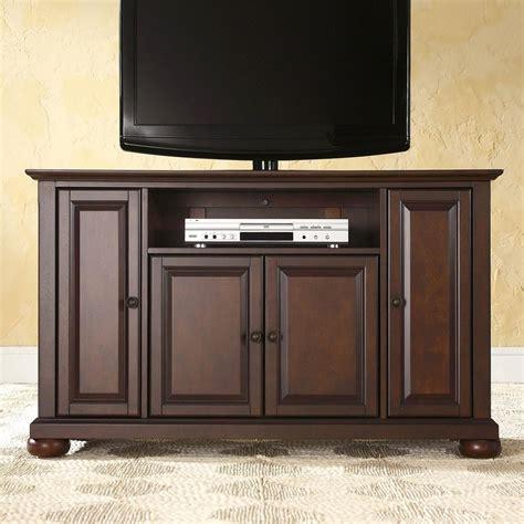 mahogany tv cabinet with doors shop crosley furniture alexandria vintage mahogany tv