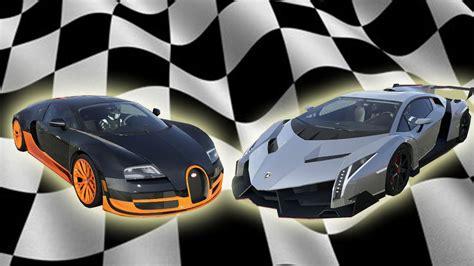 Bugatti Veyron Vs by Bugatti Veyron Sport Vs Lamborghini Veneno