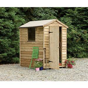 forest larchlap pressure treated shed 6ft x 4ft at