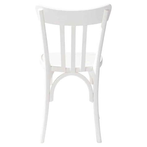 chaise en bois blanche campus maisons du monde