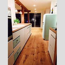 Küche Weiß Matt Lackiert Mit Eiche Arbeitsplatte