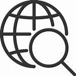 Internet Icon Seo Globe Magnifier Earth Lupa